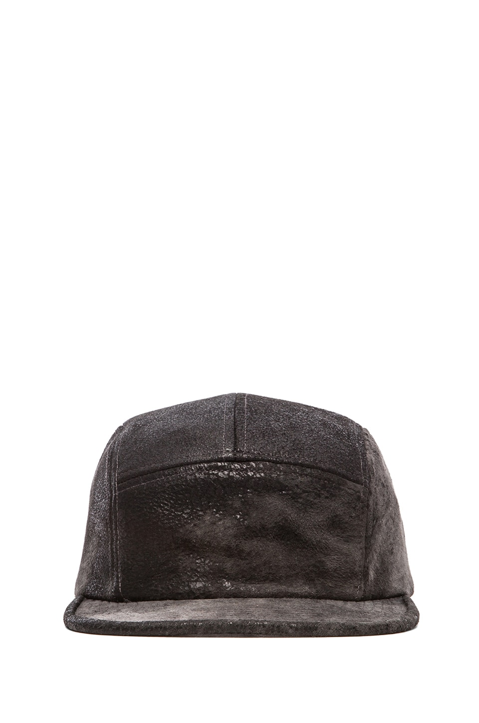 Cast of Vices Leather Hat in Dirty Wash Grey
