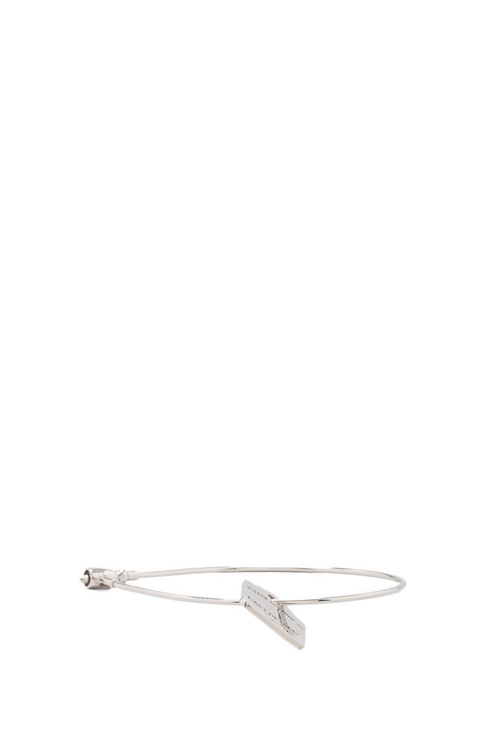 Cast of Vices Security Cable Bracelet in Silver