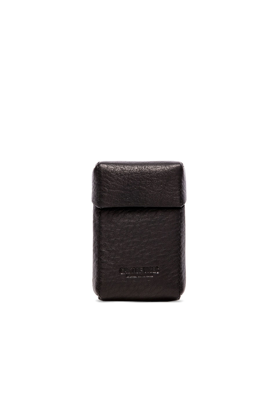 Cast of Vices Hard Pack Cigarette Case in Black