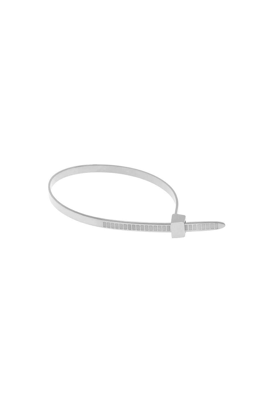 Cast of Vices Zip Tie Bracelet in Silver