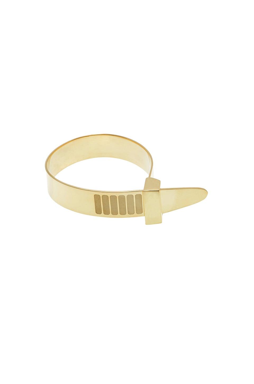 Cast of Vices Zip Tie Bracelet in Gold