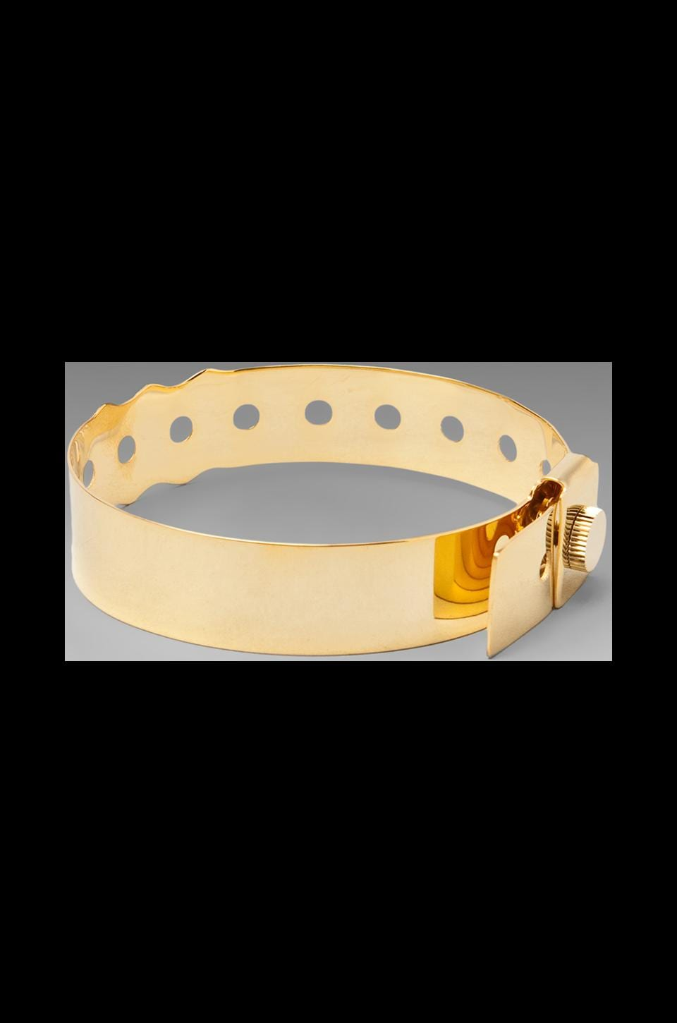 Cast of Vices 'Coming or Going' 14K Gold Plated Concert Bracelet en Or