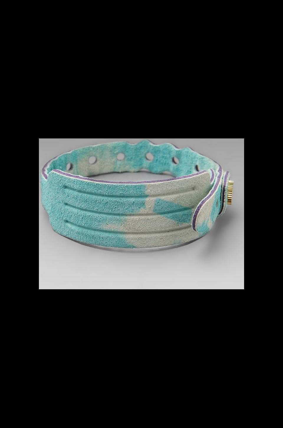 Cast of Vices Coming Or Going Medical ID Bracelet in Blue Tie Dye