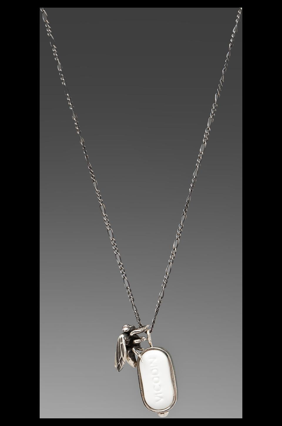 Cast of Vices Ups & Downs/You Again Combo Necklace in Silver Vicodin