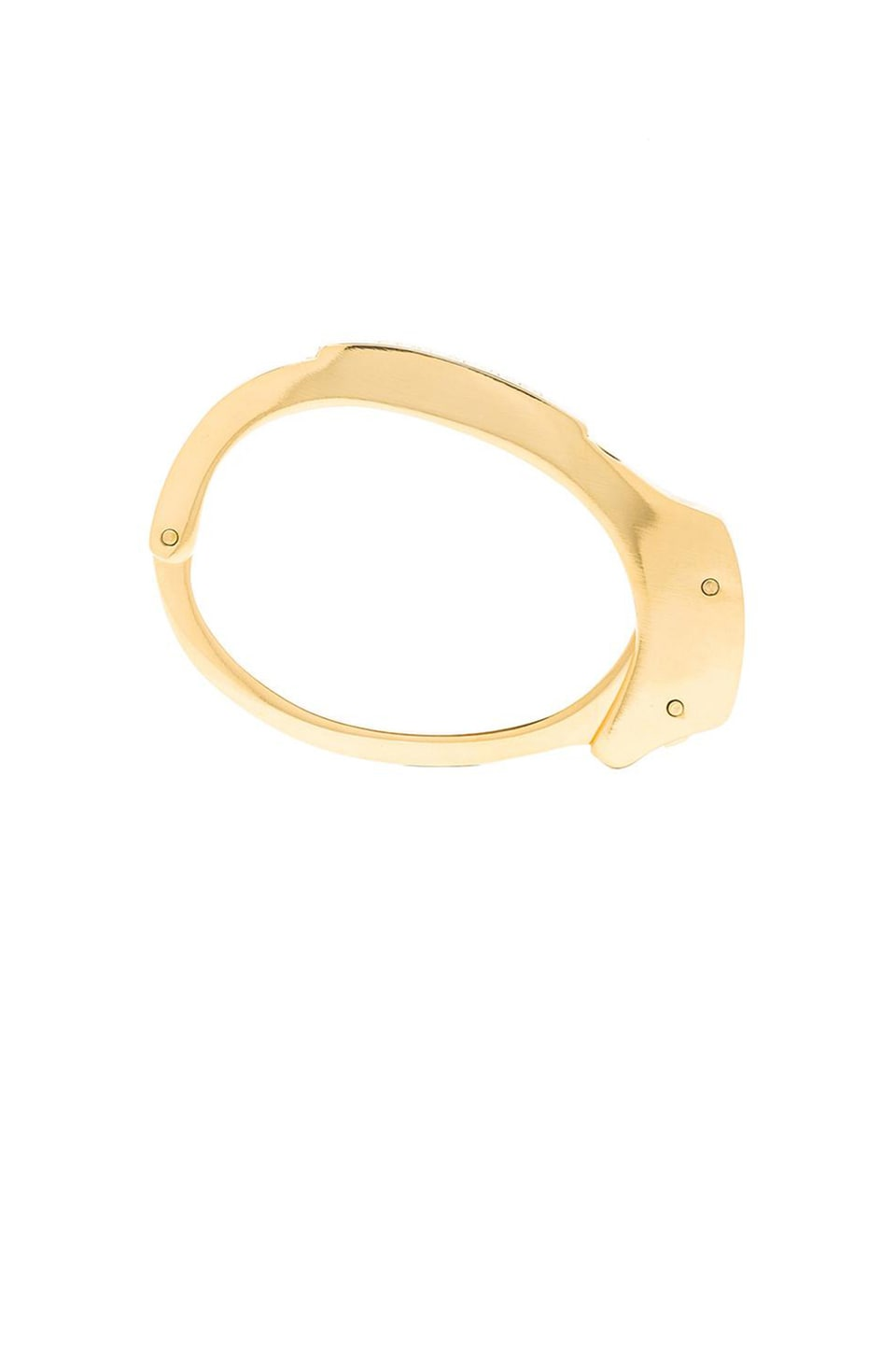 Cast of Vices Handcuff 14K Gold Plated Bracelet in Gold