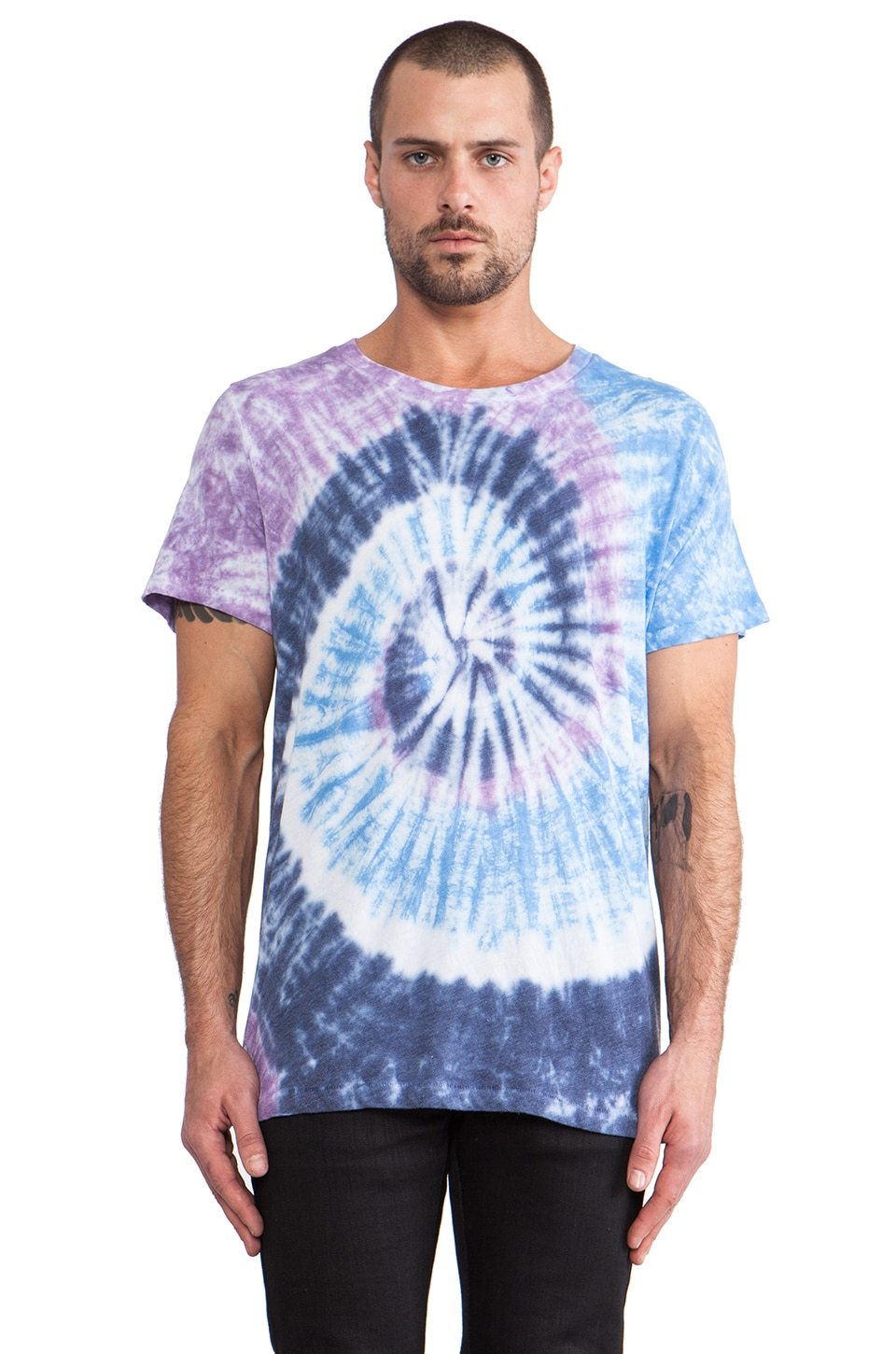Cast of Vices Tie Dye Tshirt in Purple & Pink