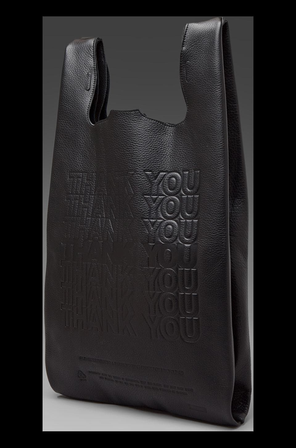 Cast of Vices Thank You Corner Store Leather To-Go Bag in Black