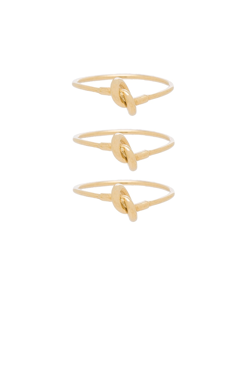 Cast of Vices Set of 3 Stackable Rings in Gold