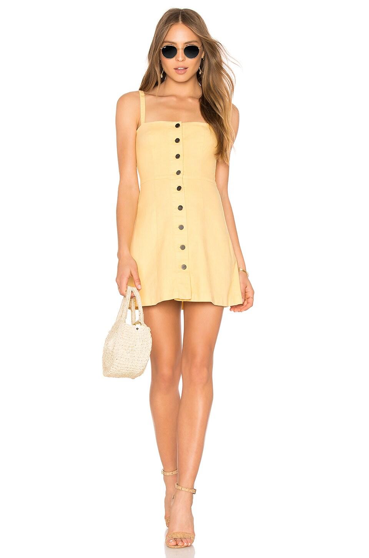 Capulet Tabitha Mini Dress in Custard