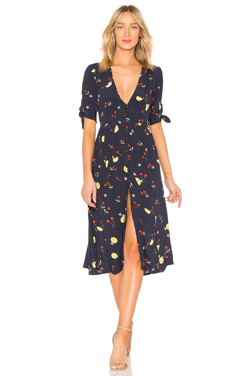 Capulet Adele Midi Dress in Fruit Print
