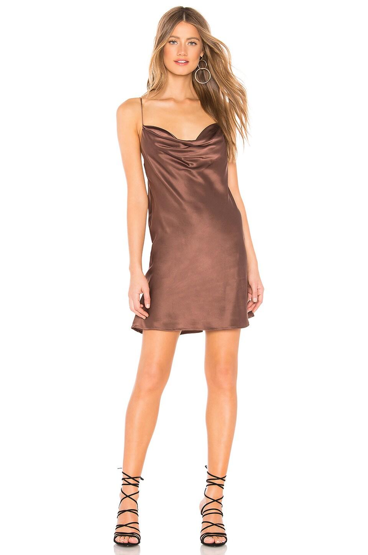 Capulet x REVOLVE Rae Silk Mini Dress in Mink