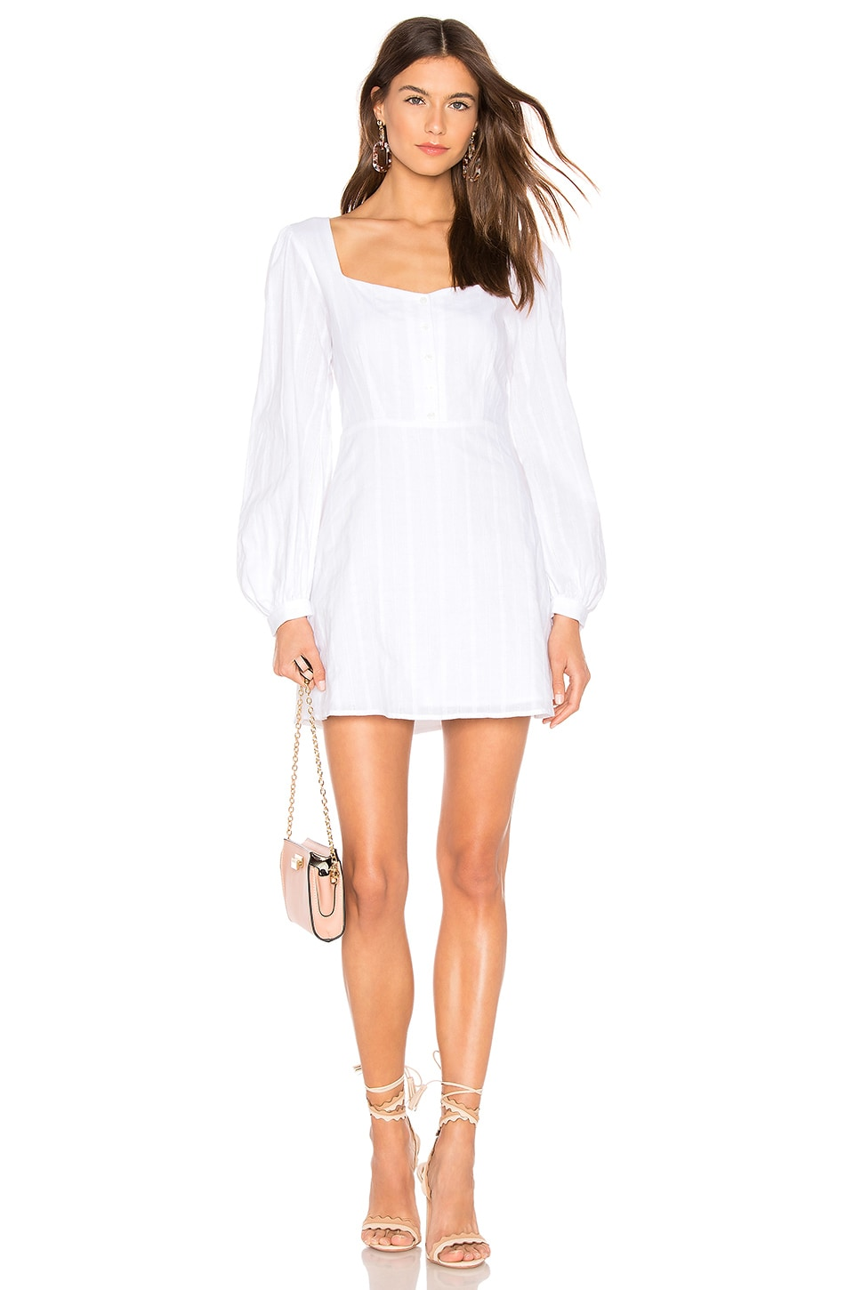 Capulet Dolly Button Down Dress in White Petite Eyelet
