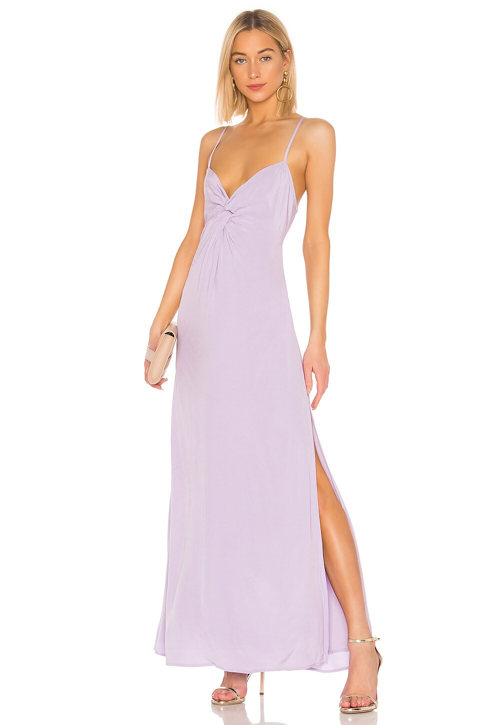 Capulet Judith Knot Front Maxi Dress in Lavender
