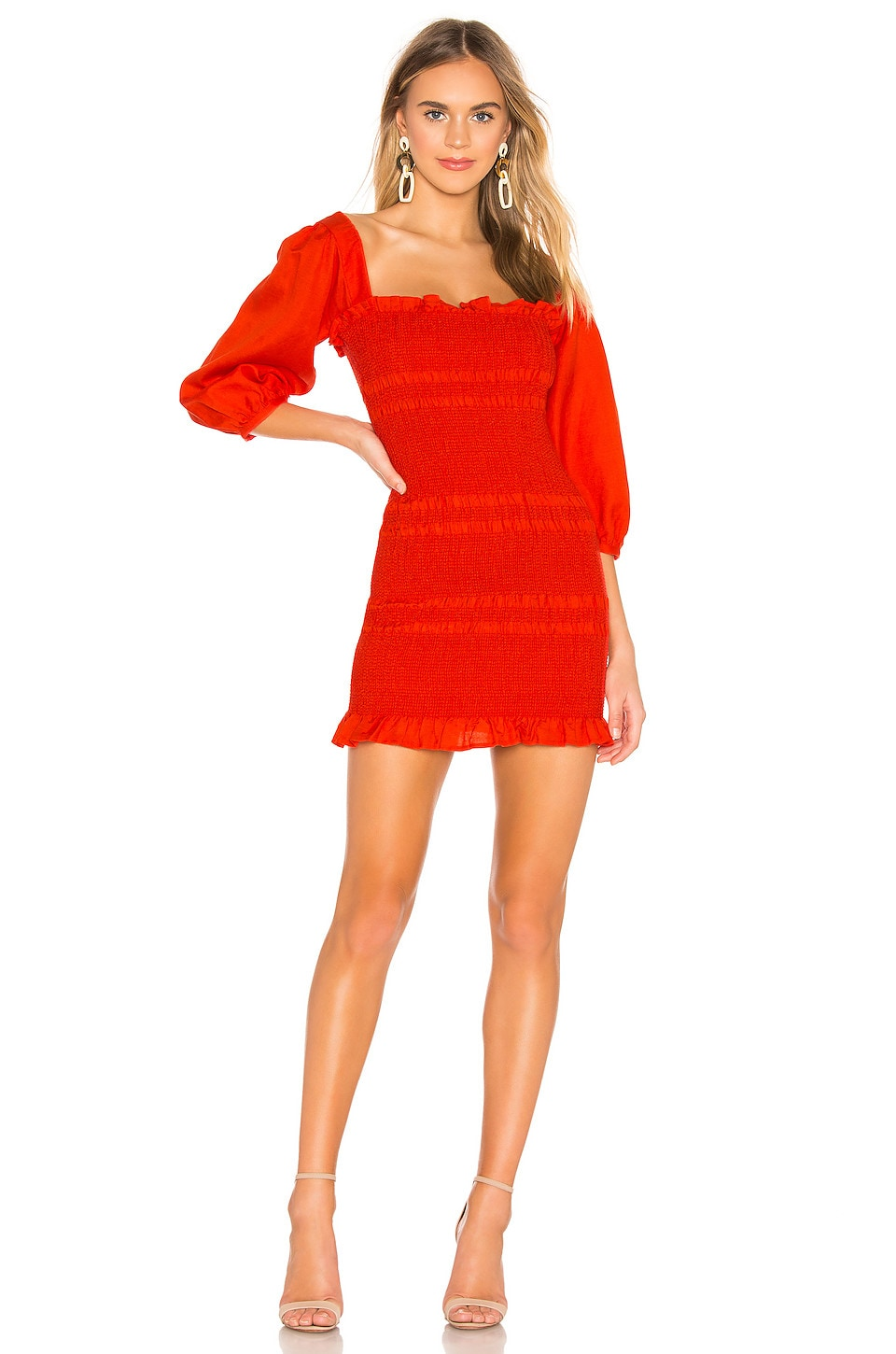 Capulet Siobhan Dress in Tangerine