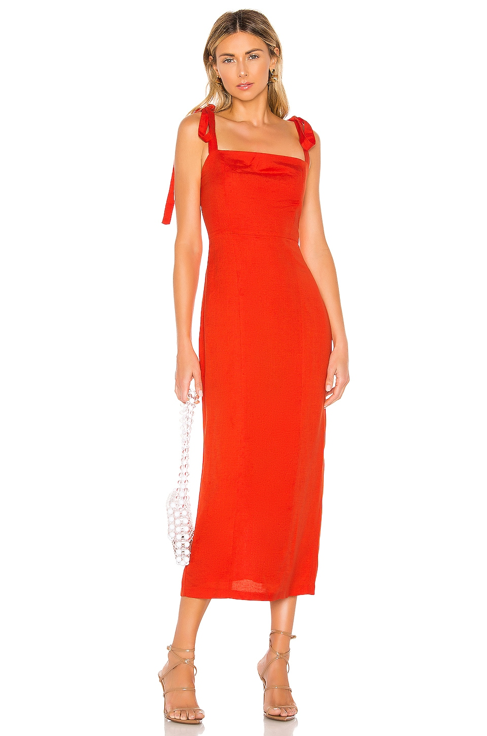 Capulet Camille Midi Dress in Tangerine