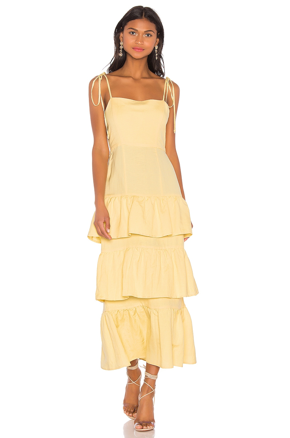 Capulet Quinn Tiered Dress in Lemon