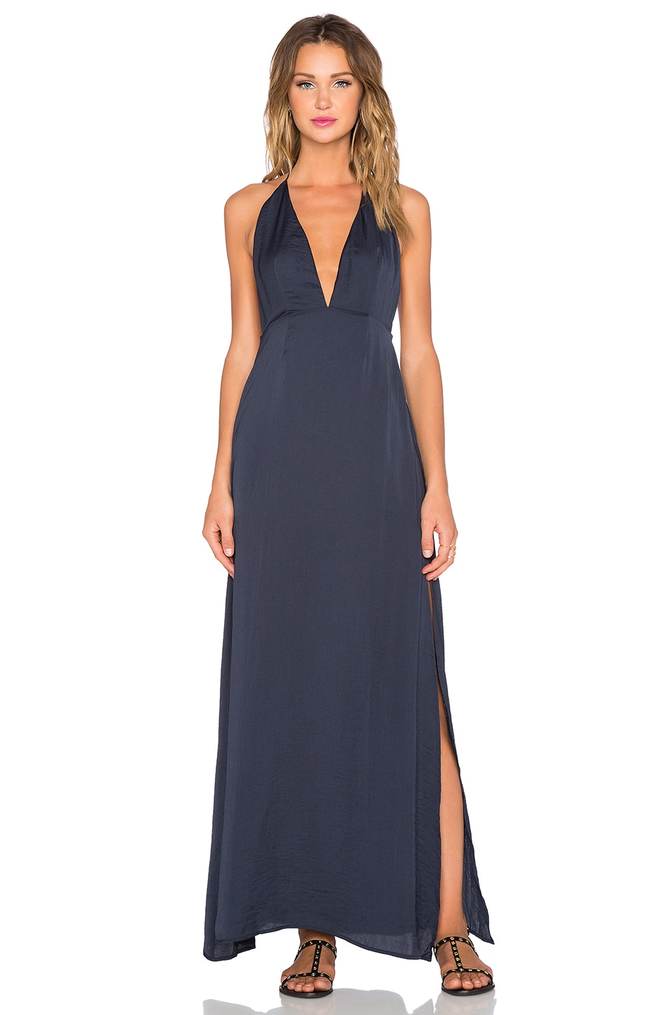 Capulet Halter Neck Maxi Dress in Navy | REVOLVE