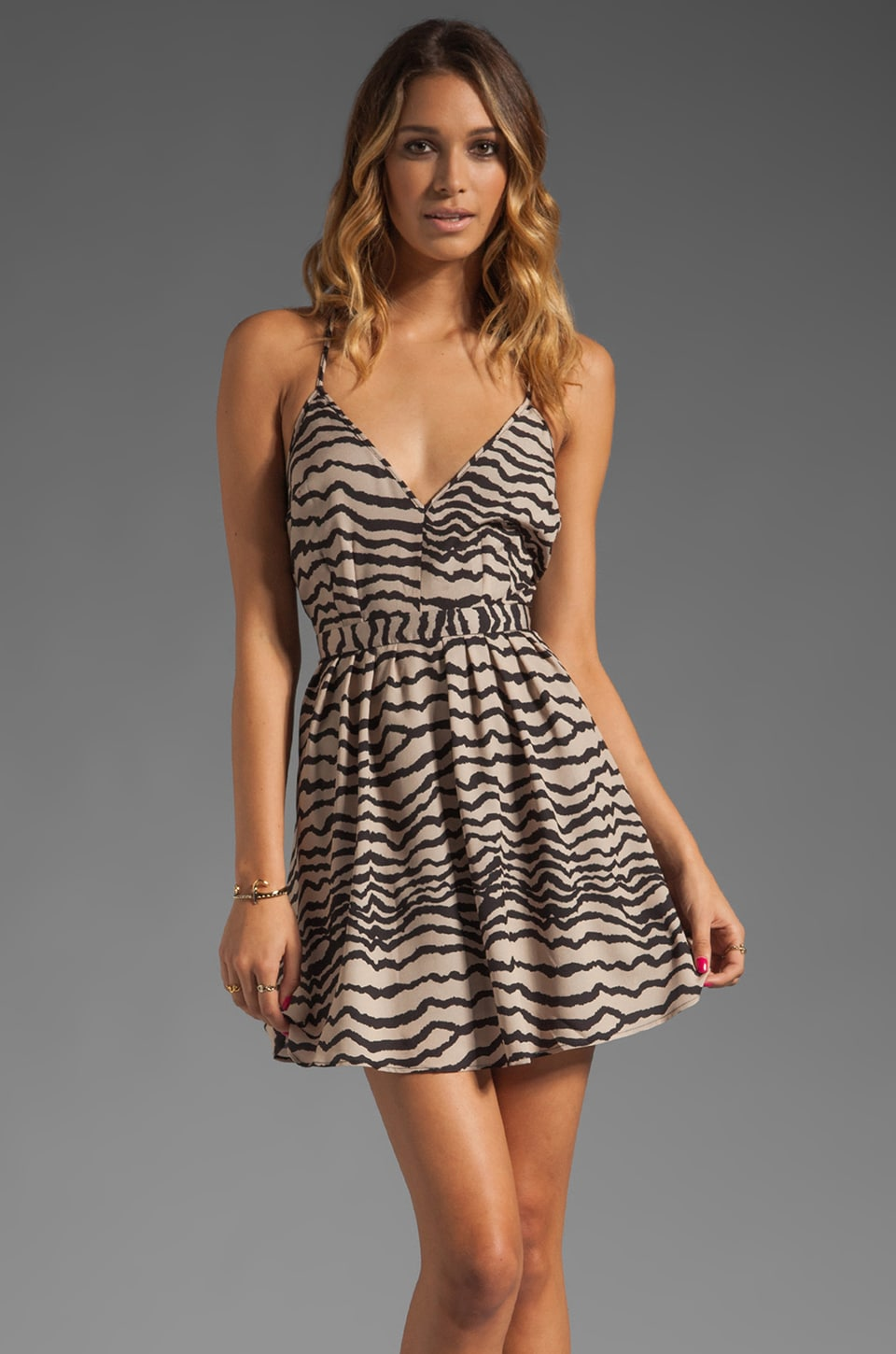 Capulet Criss Cross Dress in Animal Stripe