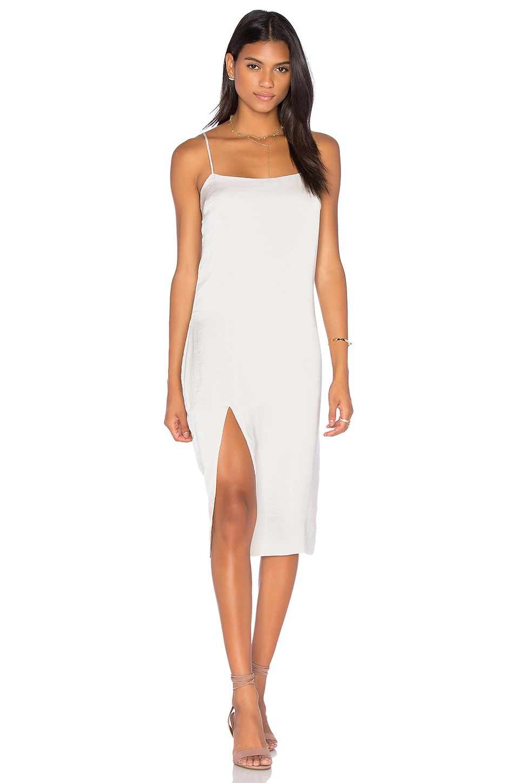 Capulet Midi Slip Dress in Oyster