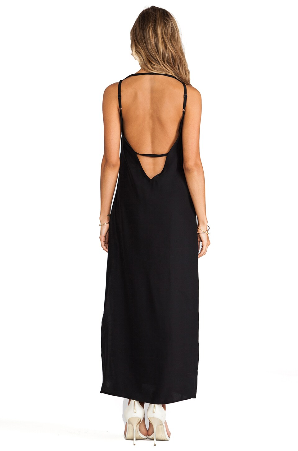 Capulet Plunging Back Maxi Dress in Black