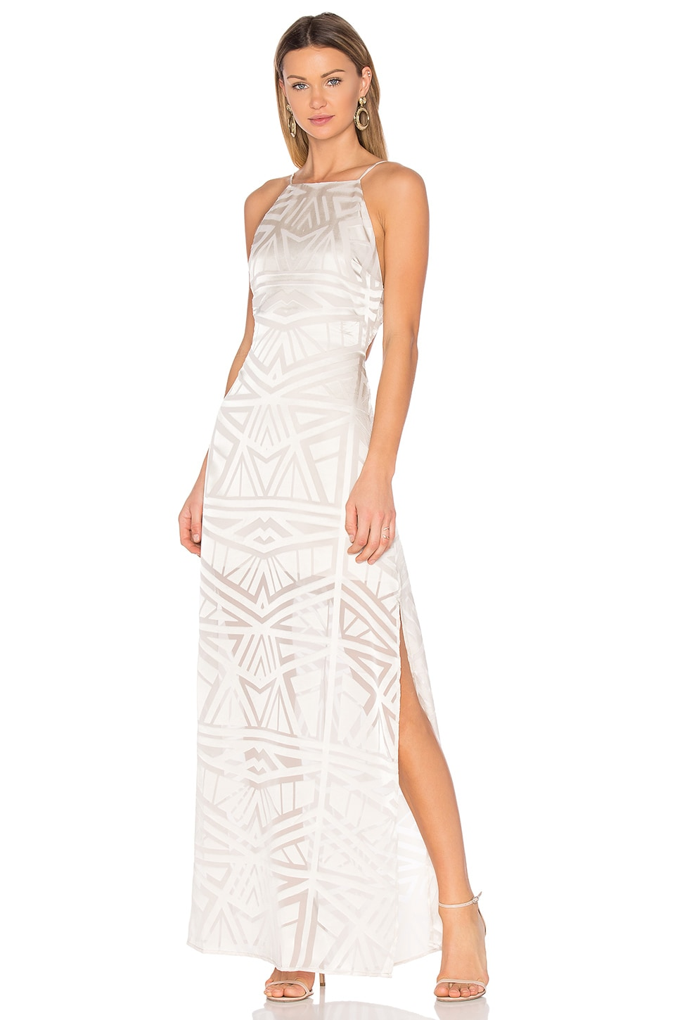 Capulet Anais Halter Maxi Dress in Ivory Geo