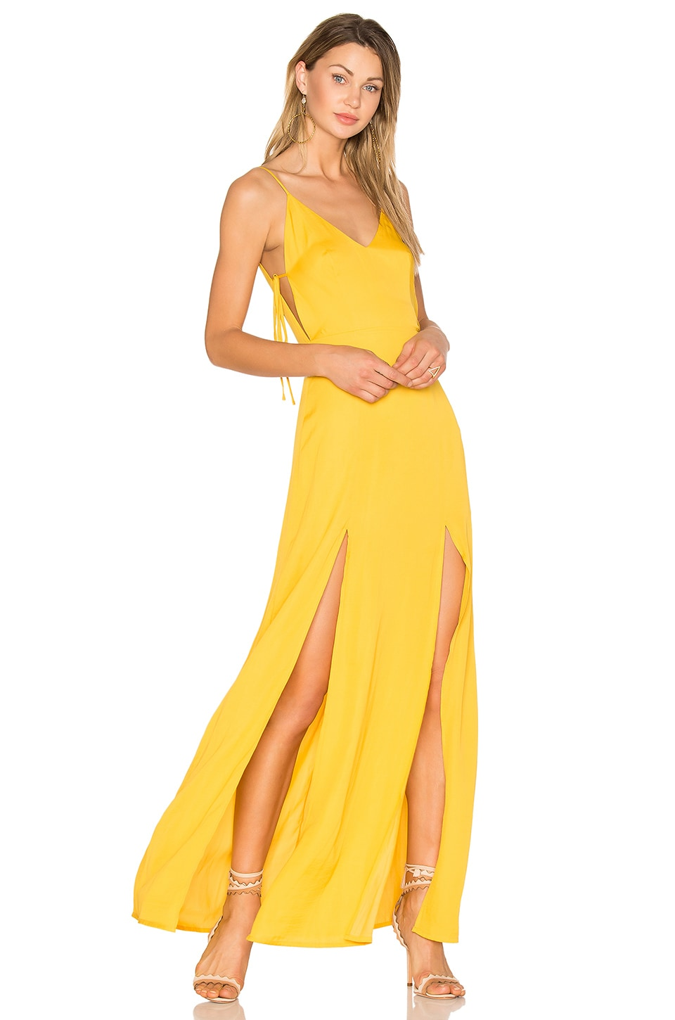 Capulet Gina Plunging Maxi Dress in Goldenrod