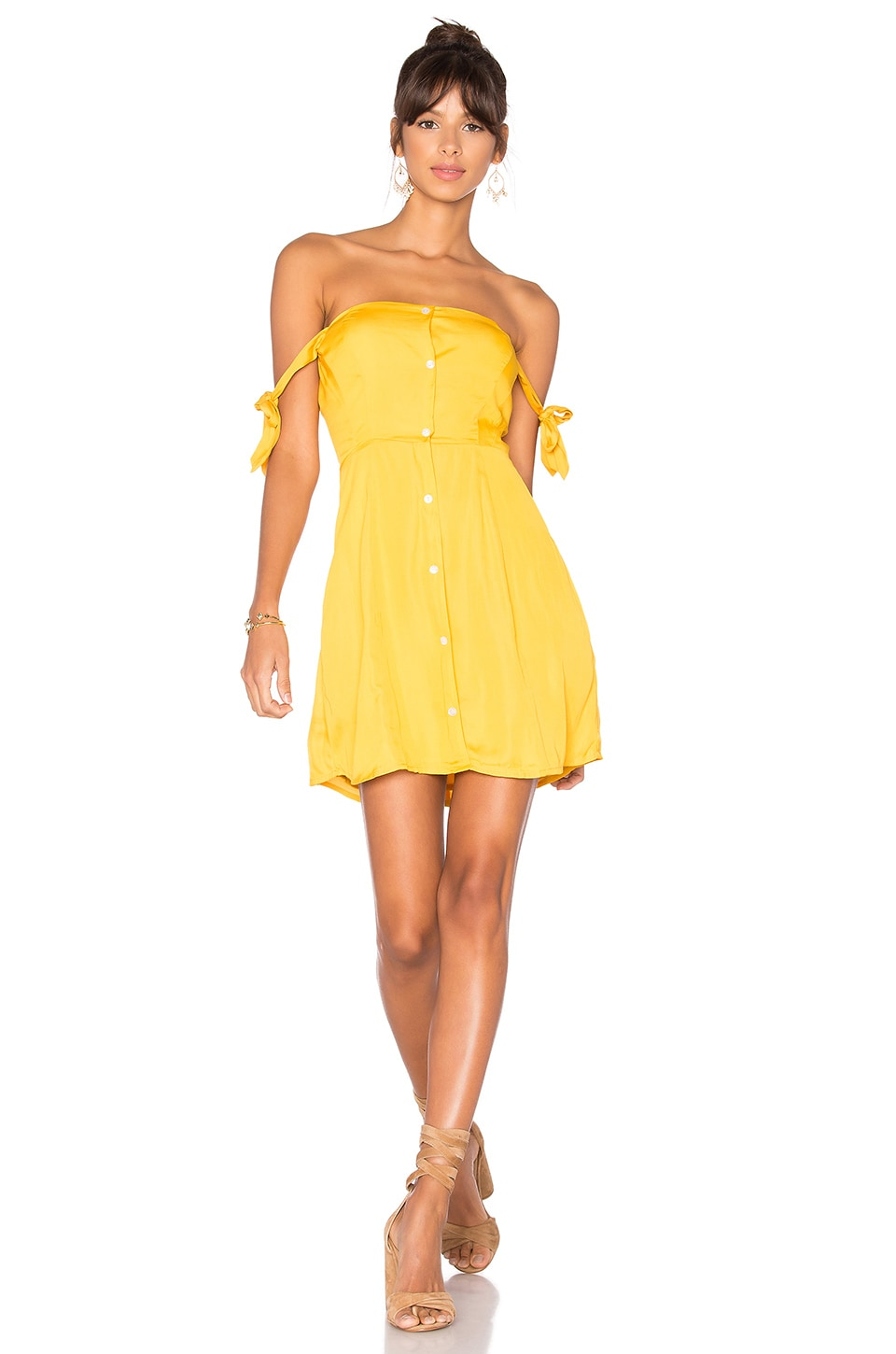 Capulet Giulia Mini Dress in Goldenrod