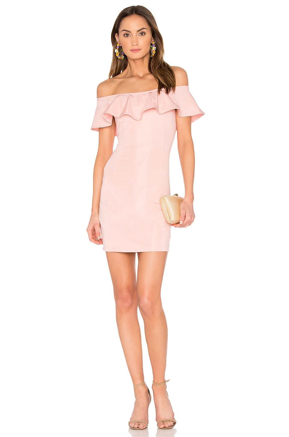 Capulet x REVOLVE Eva Off the Shoulder Mini Dress in in Blush