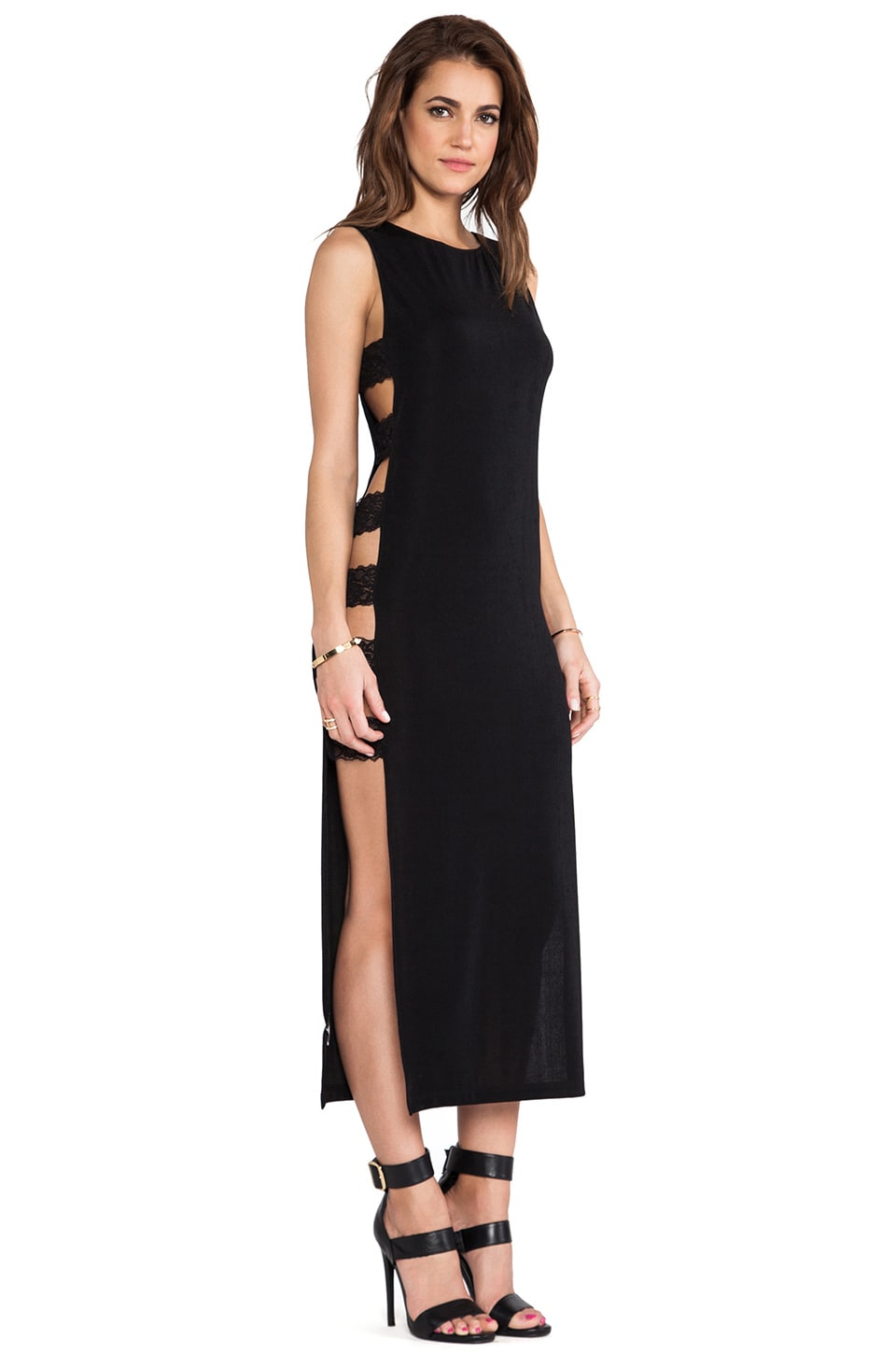 Capulet Maxi Dress in Black