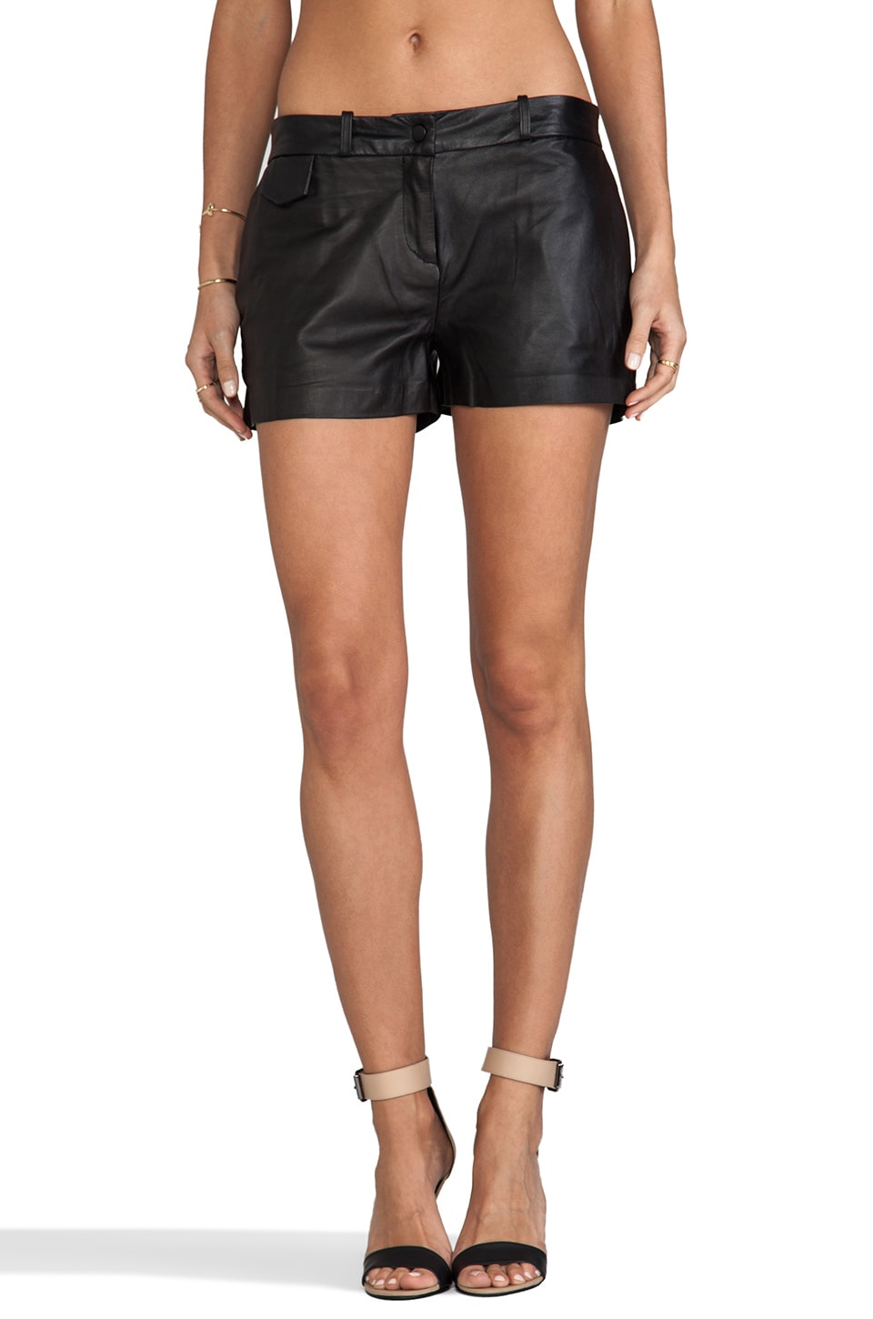Capulet Leather Short in Black
