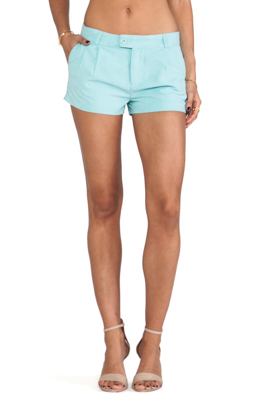 Capulet Pleated Trouser Short in Seafoam