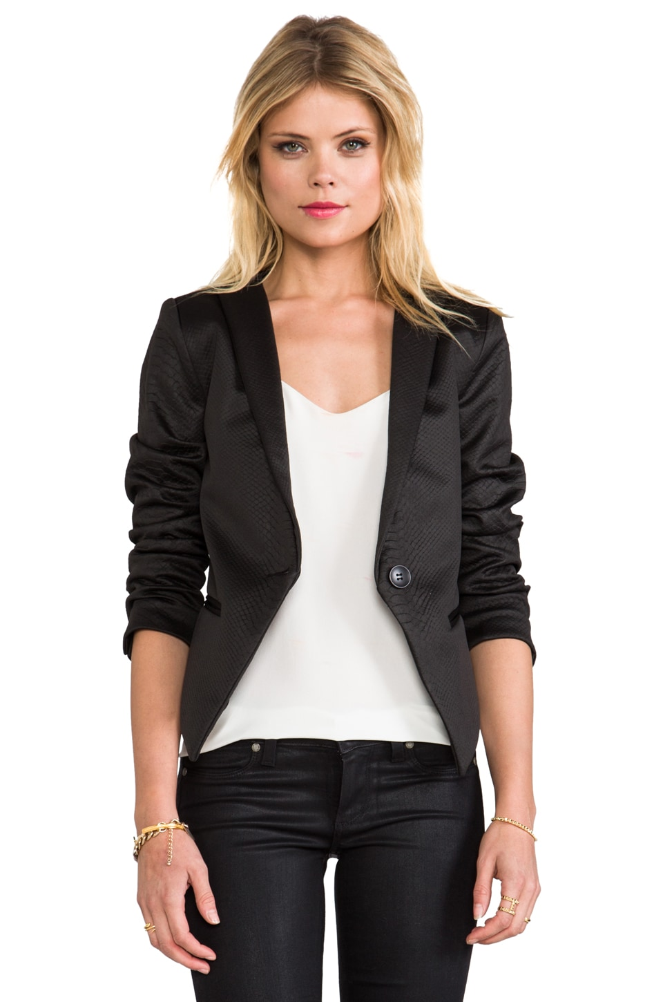 Capulet Cropped Blazer with Bolero Back in Black