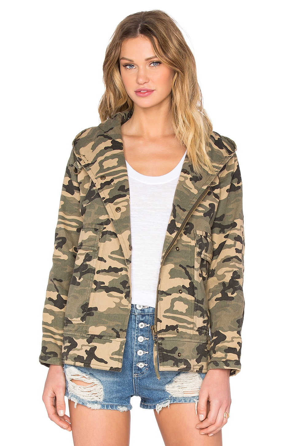 Hooded Military Jacket by Capulet