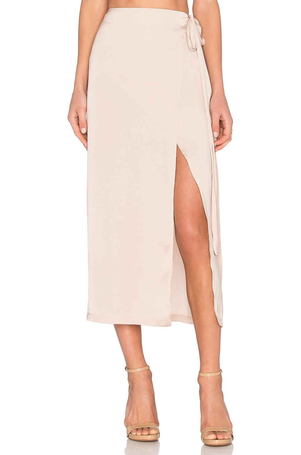 Capulet Wrap Maxi Skirt in Champagne