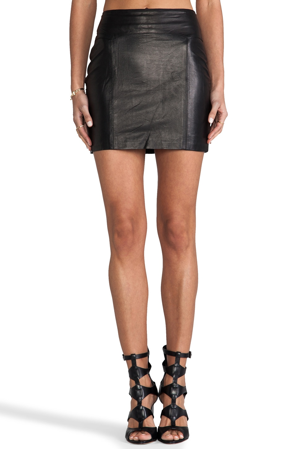 Capulet Leather Mini Skirt in Black