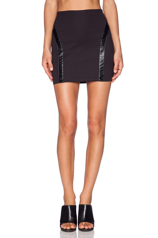 Capulet High Waist Pencil Skirt in Black