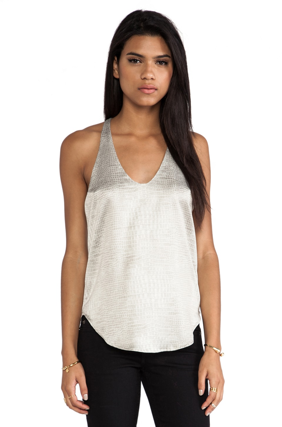 Capulet Camisole Tank in Light Croc Print