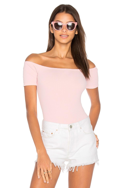 0cea15f17a4 Capulet x REVOLVE Short Sleeve Shoulderless Bodysuit in Pink | REVOLVE