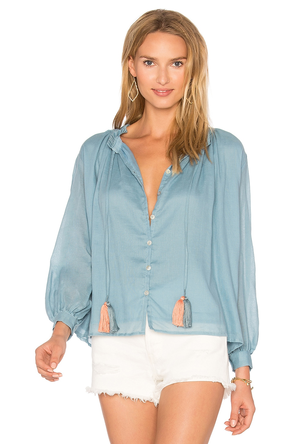 Carolina K Katie Blouse in Blue