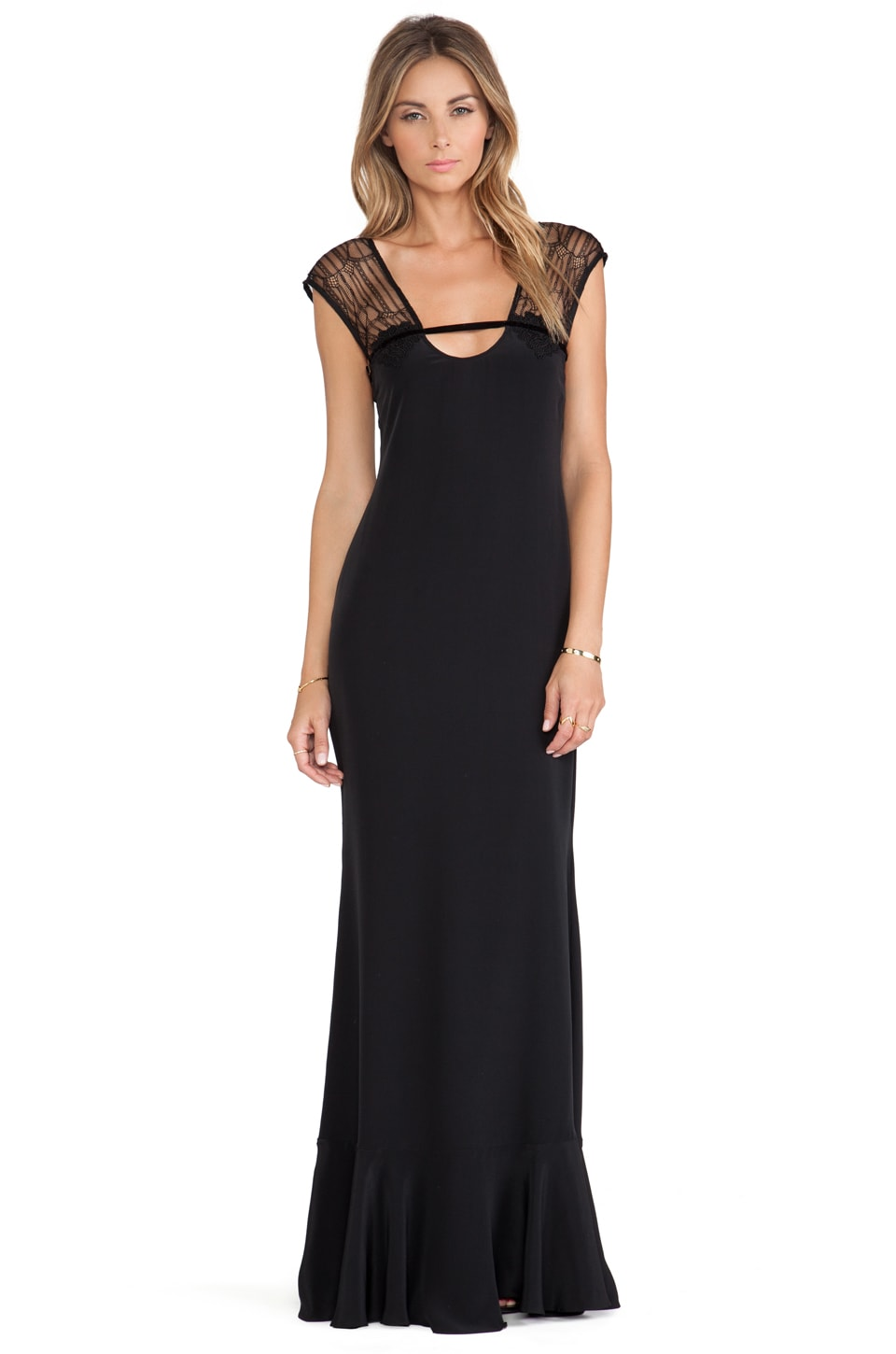 Carmella Cintia Maxi Dress in Black