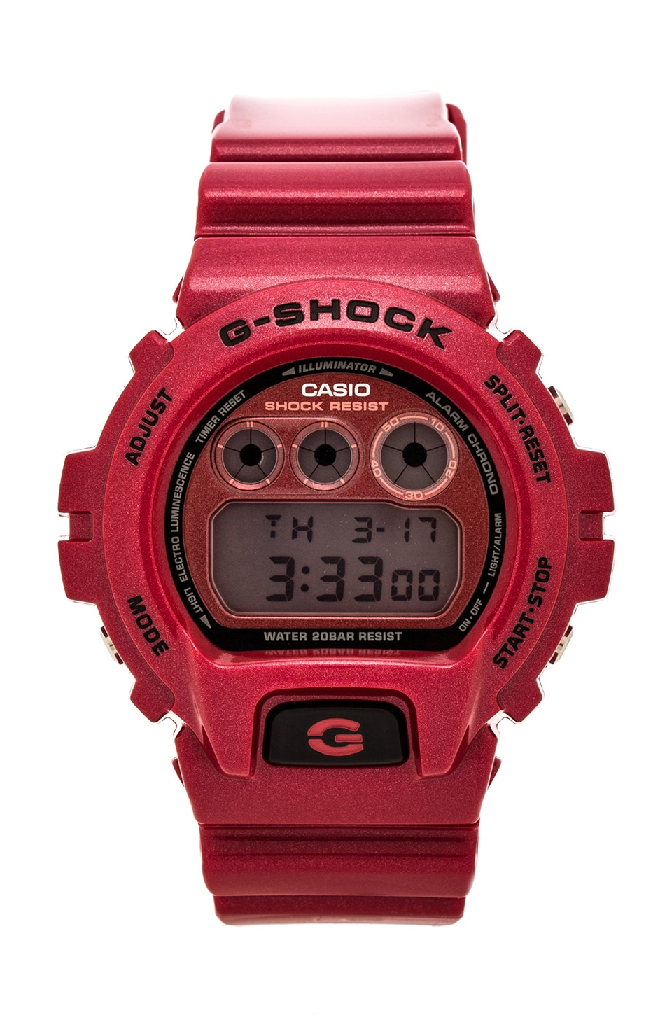 G-Shock DW-6900MF-4 in Resin Red