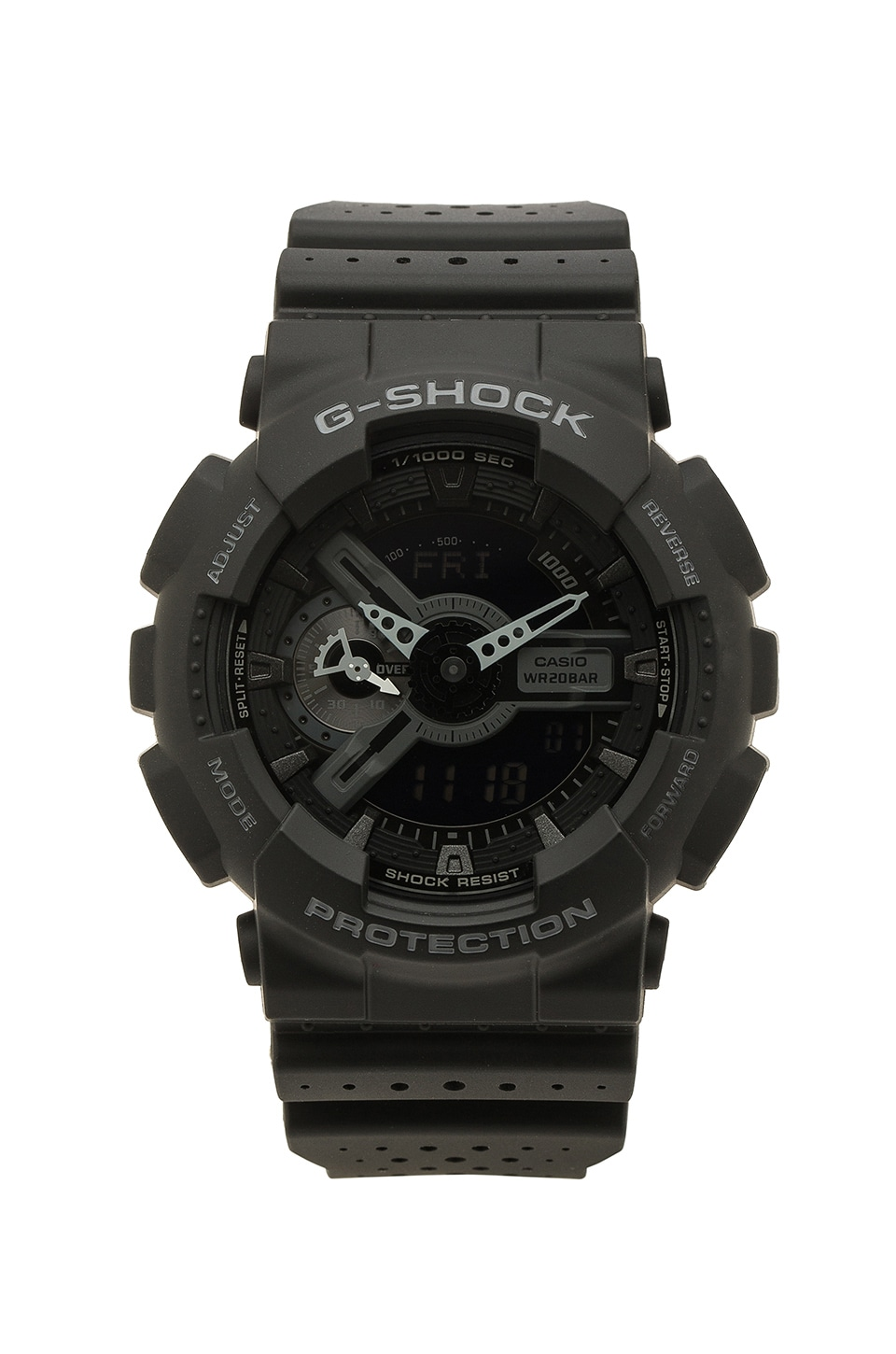 G-Shock GA-110LP Military Perf Band in Black