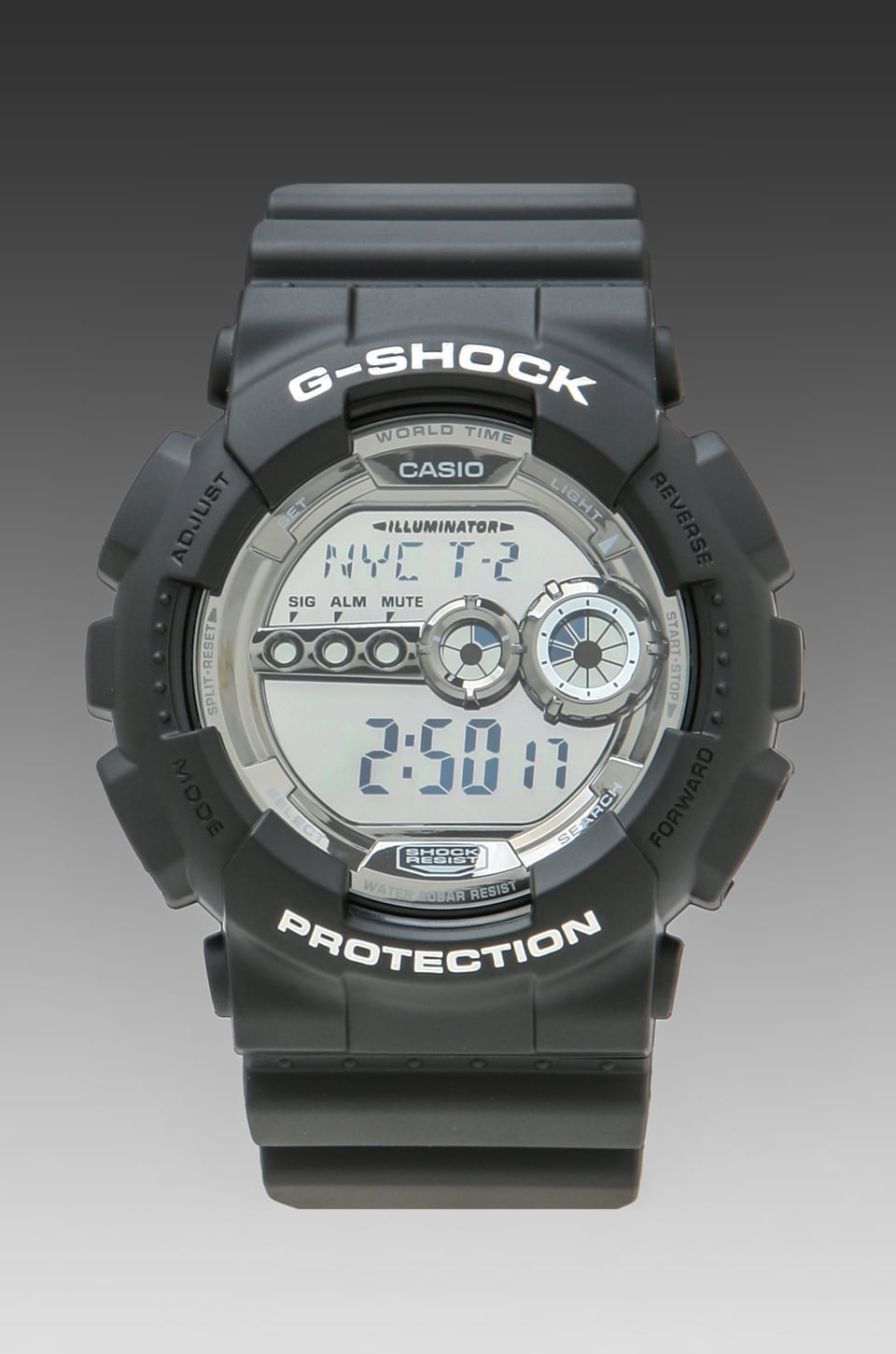 G-Shock GD-100BW-1 in Black