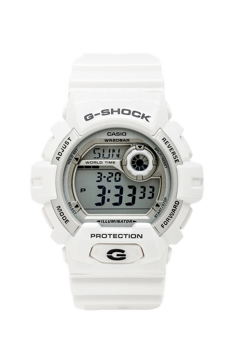 G-Shock X-Large 8900 en White/Silver