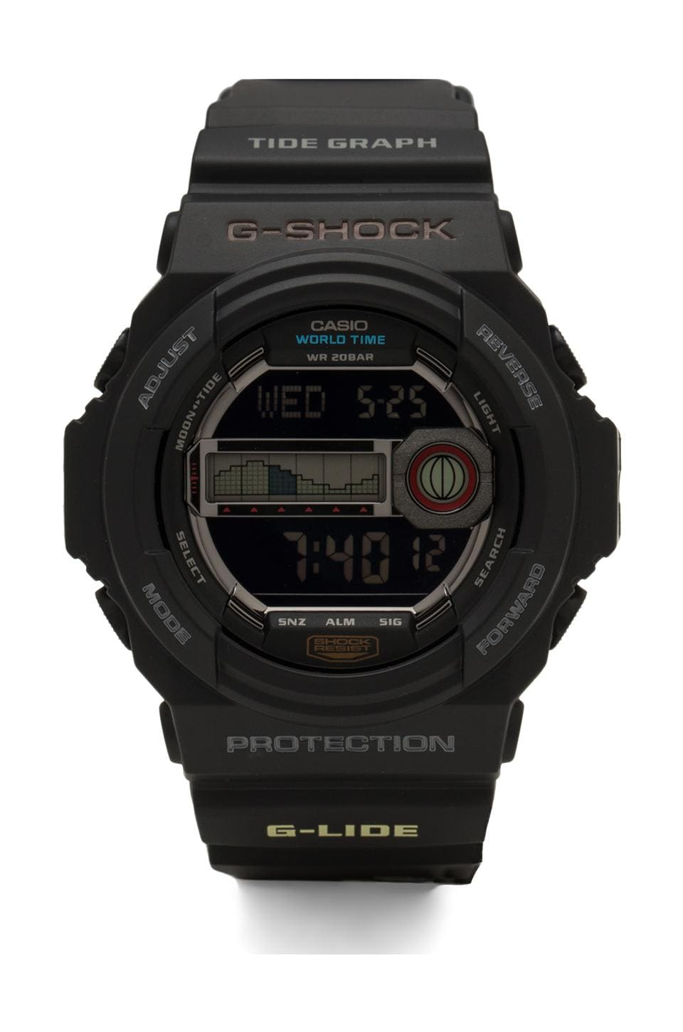 G-Shock Glide GLX 150 Tide in Black