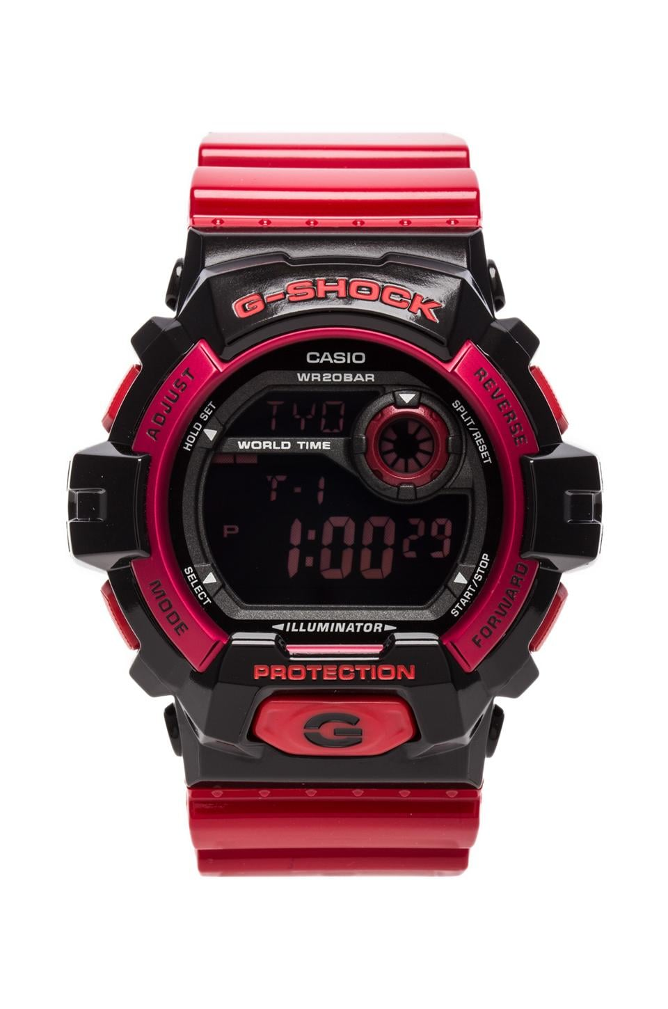 G-Shock G-8900 Crazy Color in Red