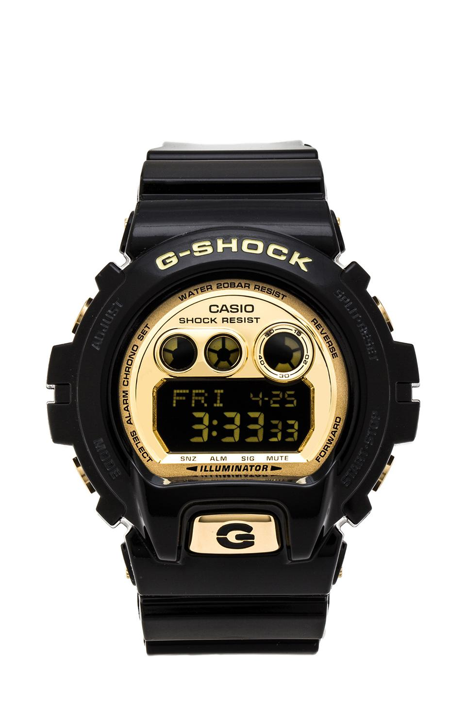 G-Shock 6900 XL in Black & Gold