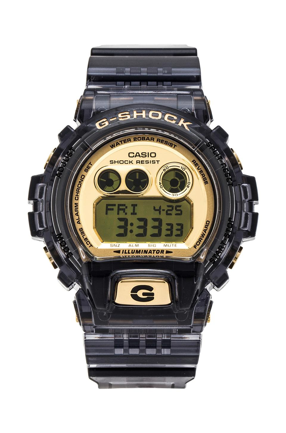 G-Shock 6900 XL Translucent in Black &Gold