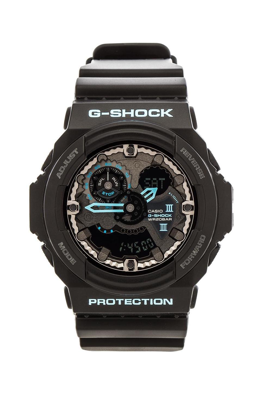 G-Shock GA300 Blue Accent in Black & Blue