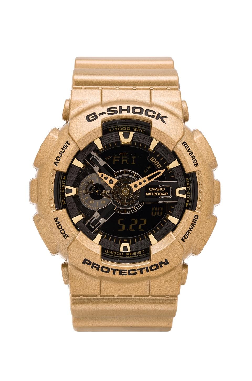 G-Shock GA-110 Gold x Black in Gold